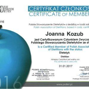 Certyfikat członkostwa w PSD