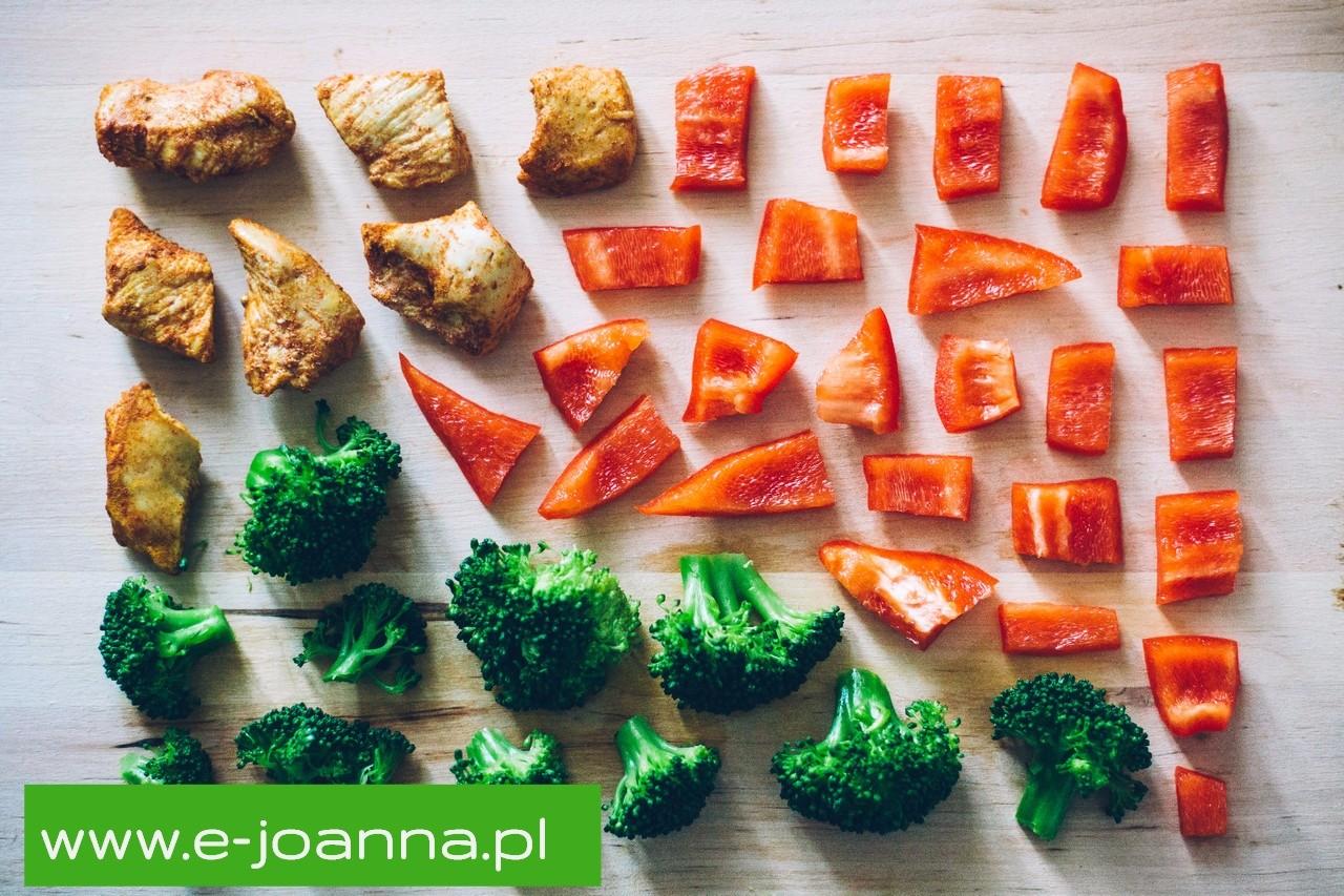 Zdrowa proporcja - 75 % warzyw 25 % źródła białkowego