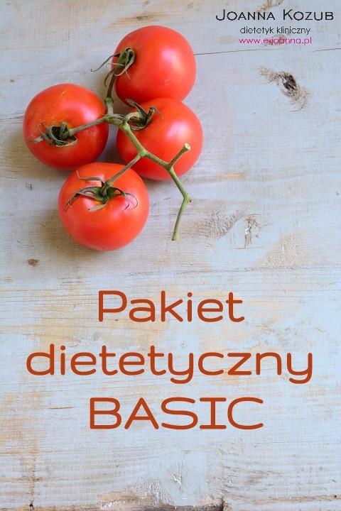 Pakiet dietetyczny z podstawowym wsparciem dietetyka klinicznego.